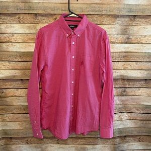 Johnnie-O Long Sleeve Pink Plaid Button Down Med